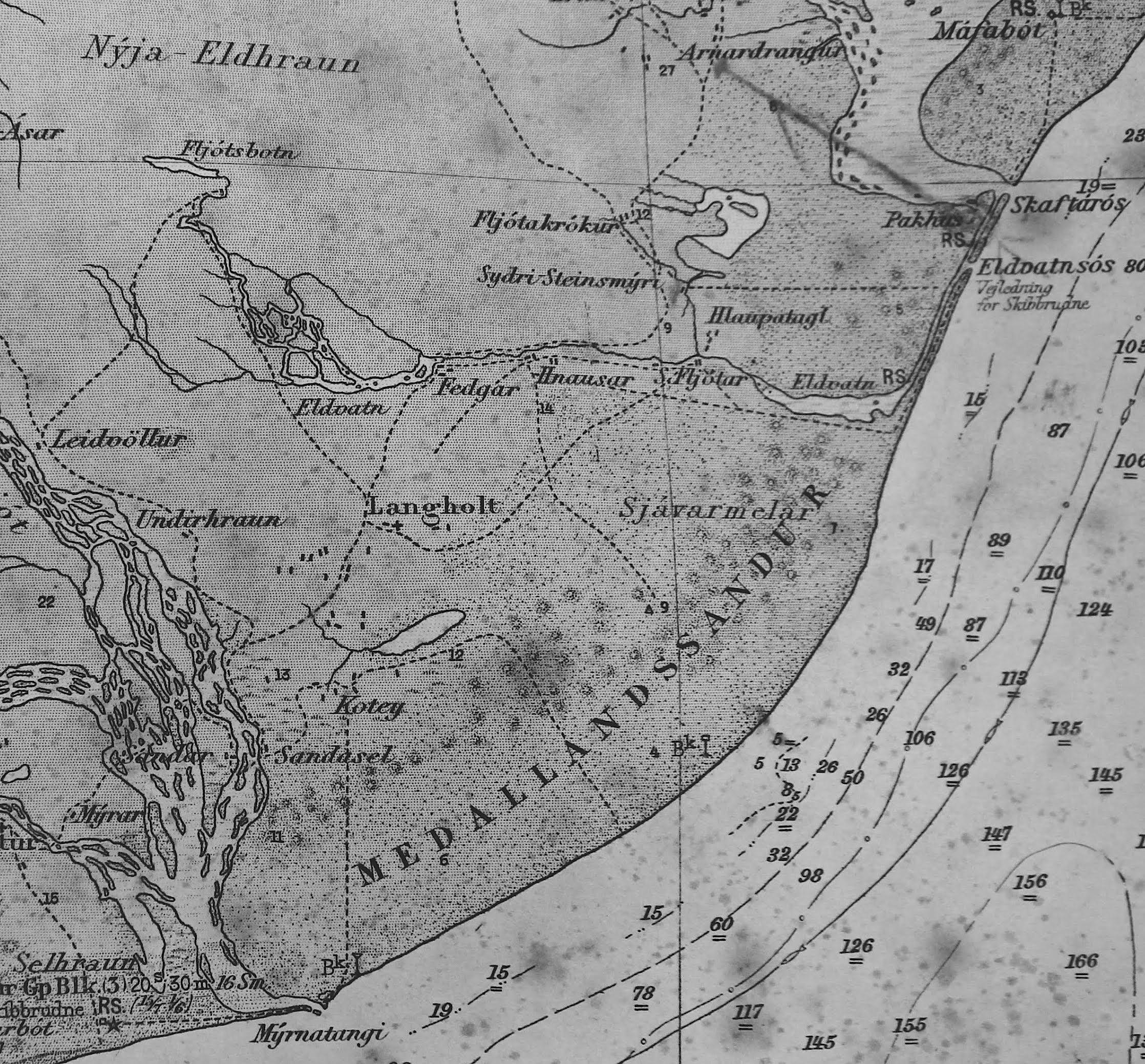 4. Kort af Meðallandinu