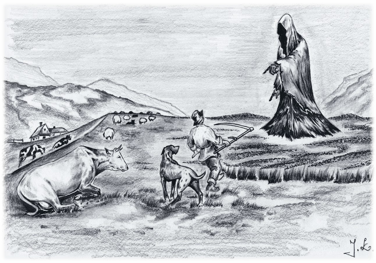 Völvuleiðið. Teikningur eftir J. Laczkowski