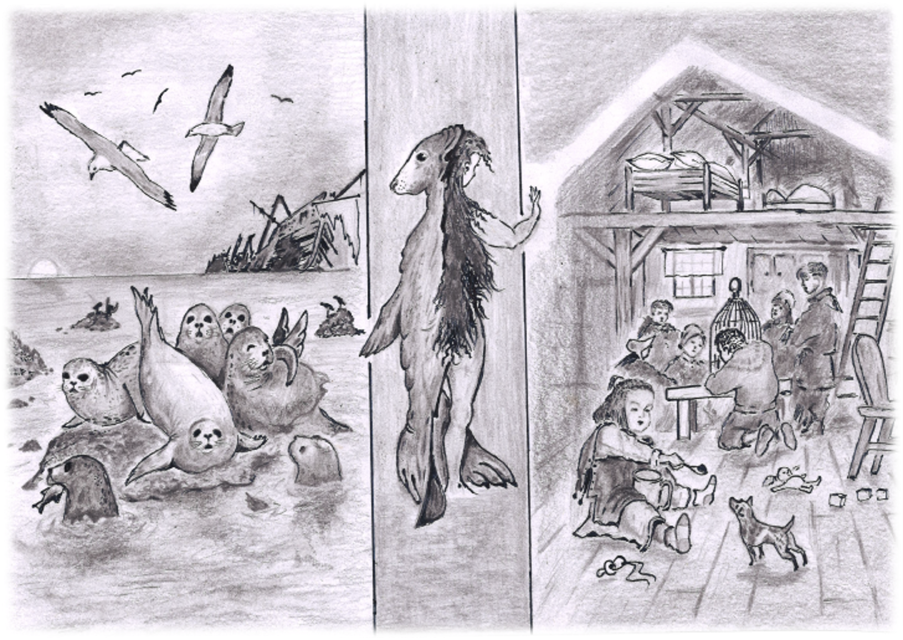 Selshamurinn. Teikning eftir J. Laczkowski